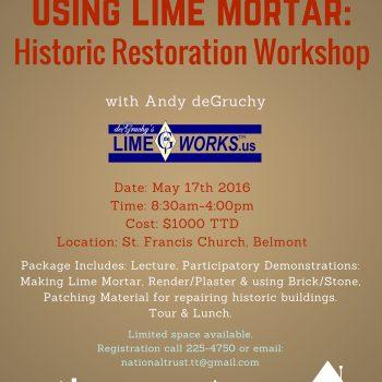 Using Lime Mortar- Historic Restoration Workshop 1