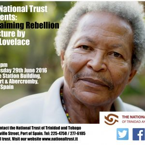 Reclaiming Rebellion - A lecture by Earl Lovelace on 29th June 2016