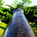 Details of a cannon at Fort Picton, Calvary Hill, Port of Spain. Photographer: Alana Joseph.
