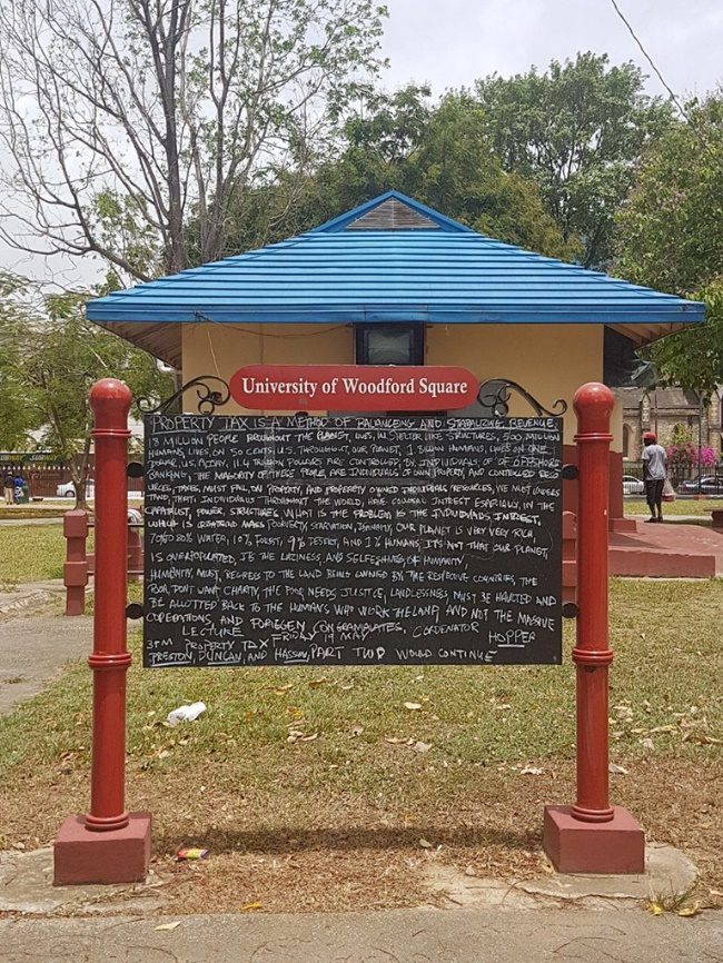 University of Woodford Square Sign
