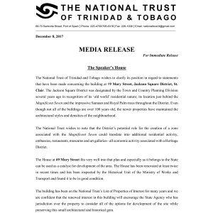 Media Release: The Speaker's House