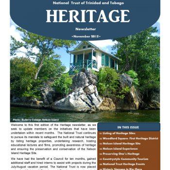 Heritage Newsletter - November 2015