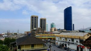 A view of Port of Spain from the rooftop of City Gate