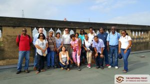 Members of the tour on the roof of City Gate