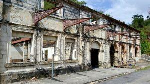 Ruins of 1903 masonry station building