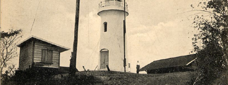 uwi-michael-goldberg-collection.-post-card-of-the-chacachacare-lighthouse-trinidad